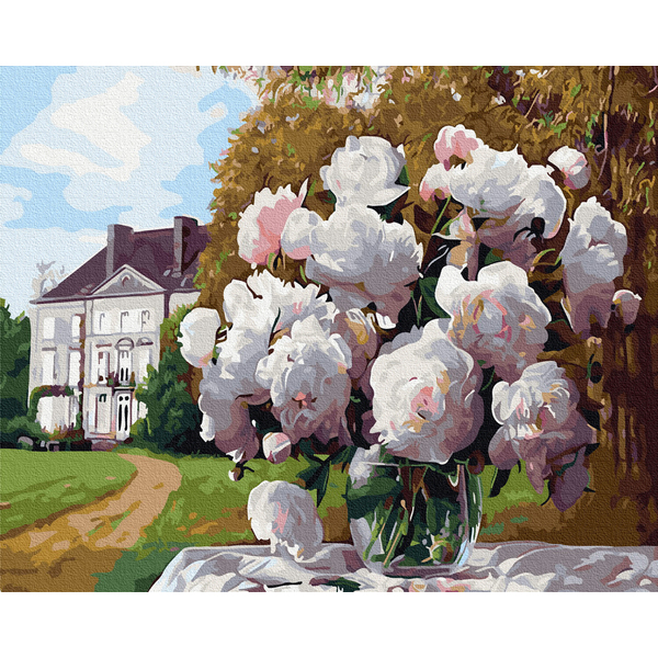 Картина по номерам Цветы - Пионы в барском саду