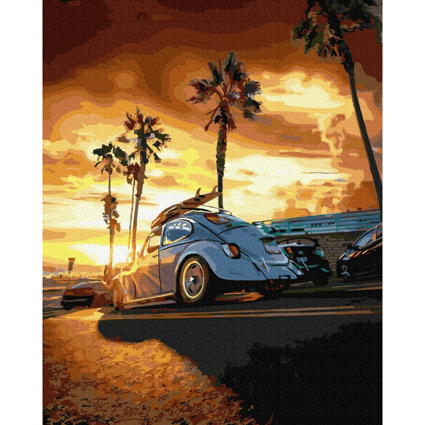 Картина по номерам Города - Калифорния