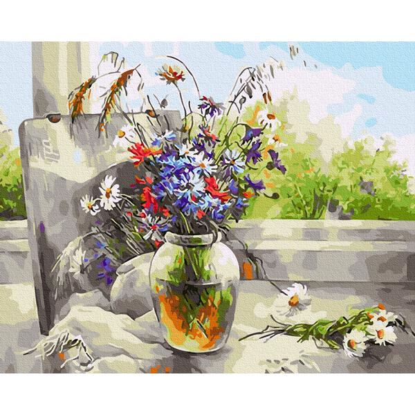 Картина по номерам Цветы - Натюрморт с полевыми цветами