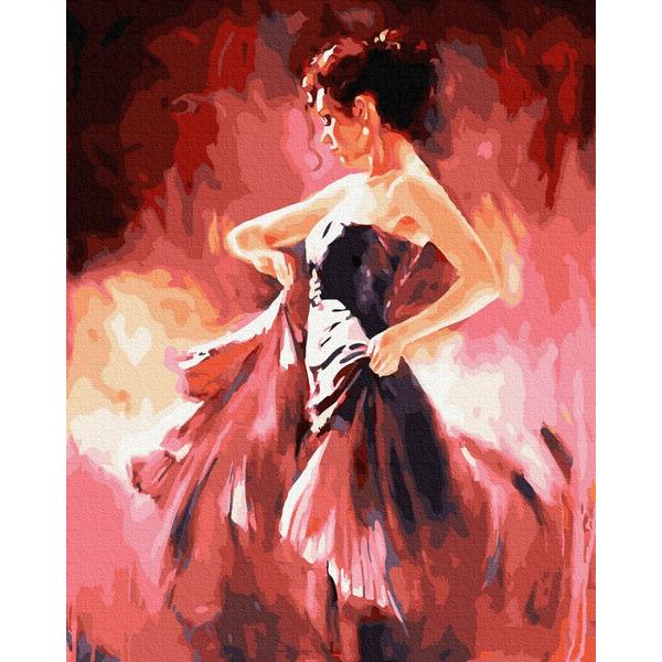 Картина по номерам Люди на картинах - Пристрасна танцівниця
