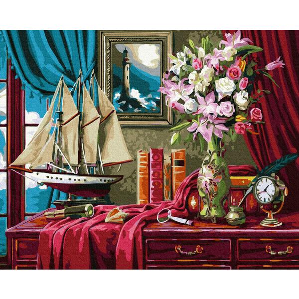 Картина по номерам Мужские - Кабинет в каюте капитана