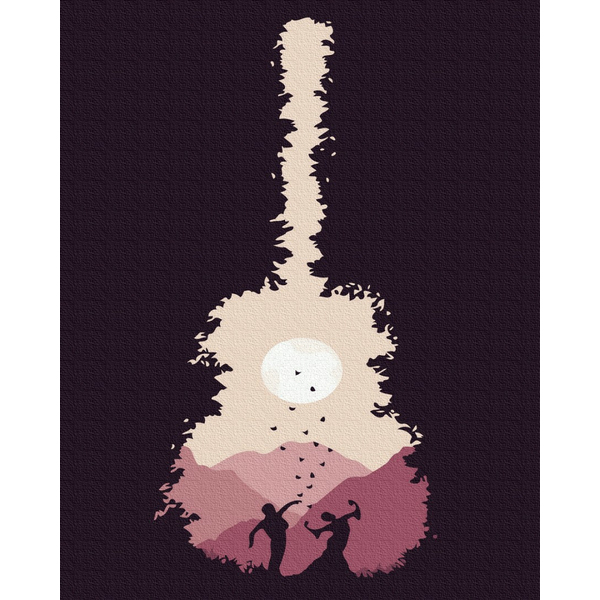 Картина по номерам Уникальные сюжеты - Гитара