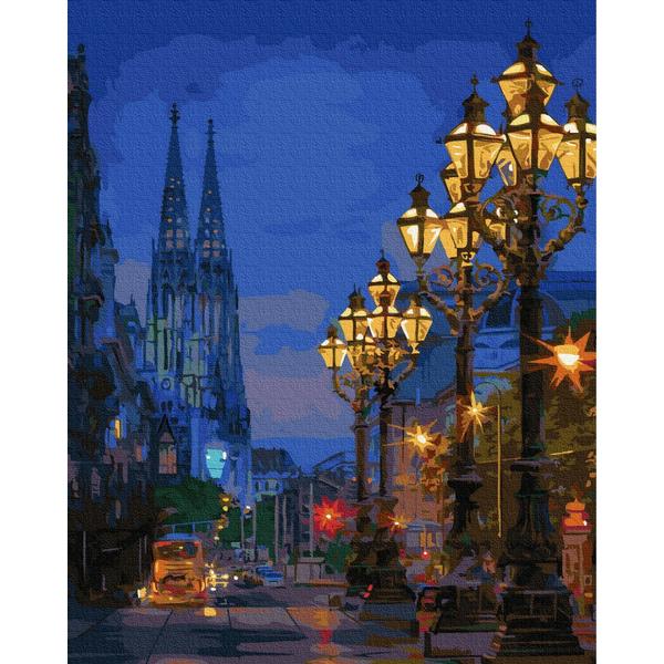 Картина по номерам Города - Вечерняя улица