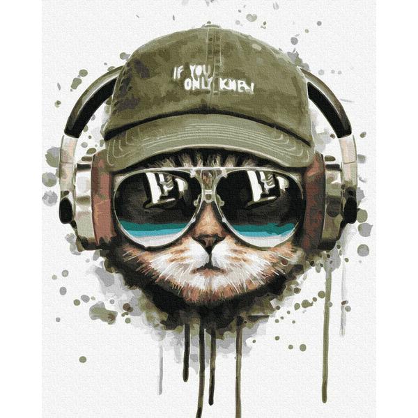 Картина по номерам Животные, птицы и рыбы - DJ Кіт