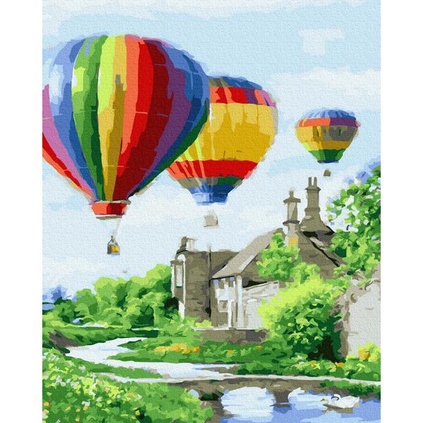 Картина по номерам Пейзажи - Запуск повітряних куль