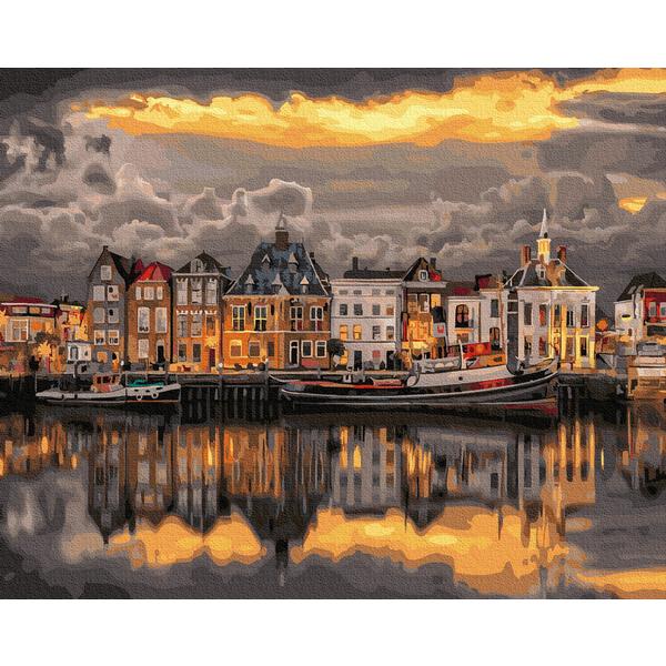 Картина по номерам Города - Вечер в Стокгольме