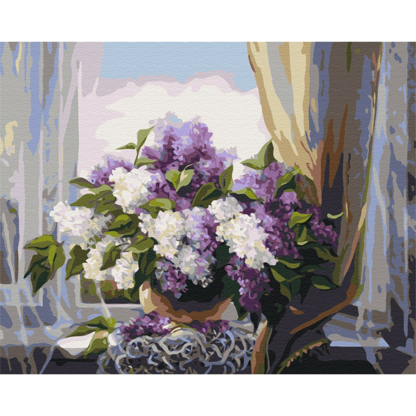 Картина по номерам Цветы - Сирень у окна