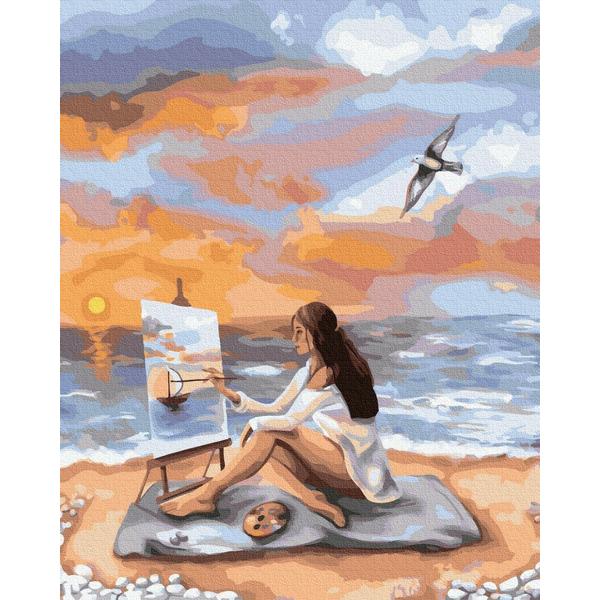Картина по номерам ПРЕМИУМ картины - Море вдохновения