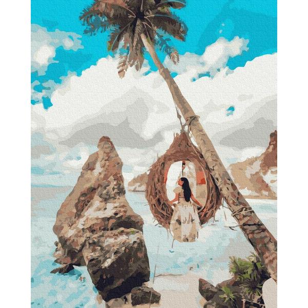 Картина по номерам ПРЕМИУМ картины - Дівчина на райських островах