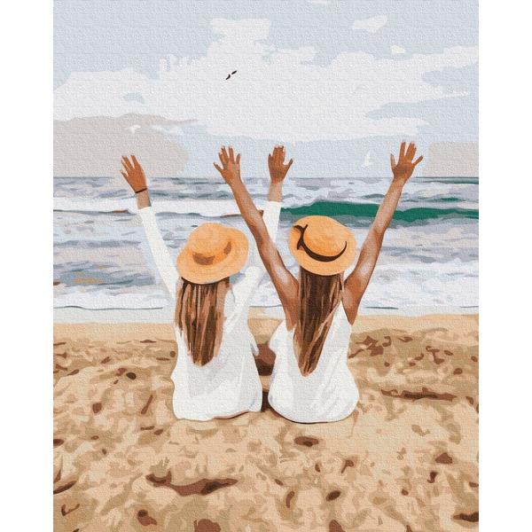 Картина по номерам ПРЕМИУМ картины - Подружки на море