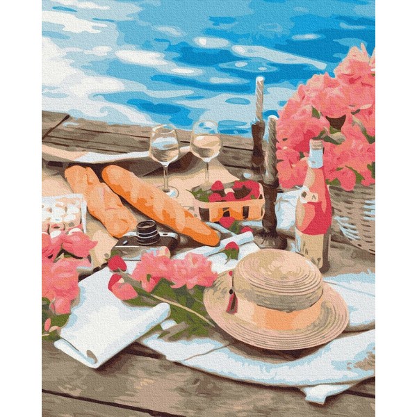Картина по номерам ПРЕМИУМ картины - Пікнік поруч з морем