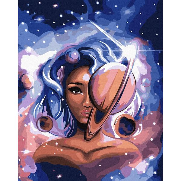 Картина по номерам ПРЕМИУМ картины - Мисс Вселенная