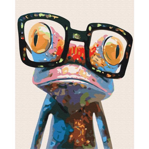 Картина по номерам Для начинающих - Лягушка в очках