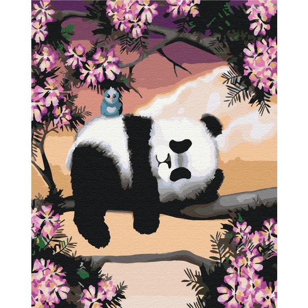 Картина по номерам Животные, птицы и рыбы - Сонна панда