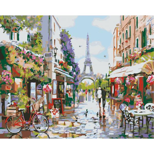Картина по номерам Пейзажи - Пообіддя в Парижі