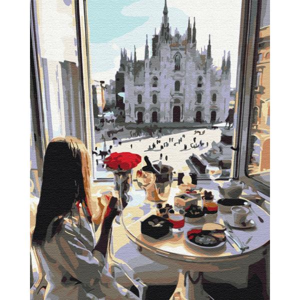 Картина по номерам Люди на картинах - Сніданок в Мілані