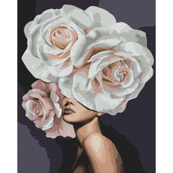 Картина по номерам Люди на картинах - Девушка роскошный пион