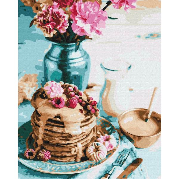 Картина по номерам Натюрморты - Панкейки на завтрак