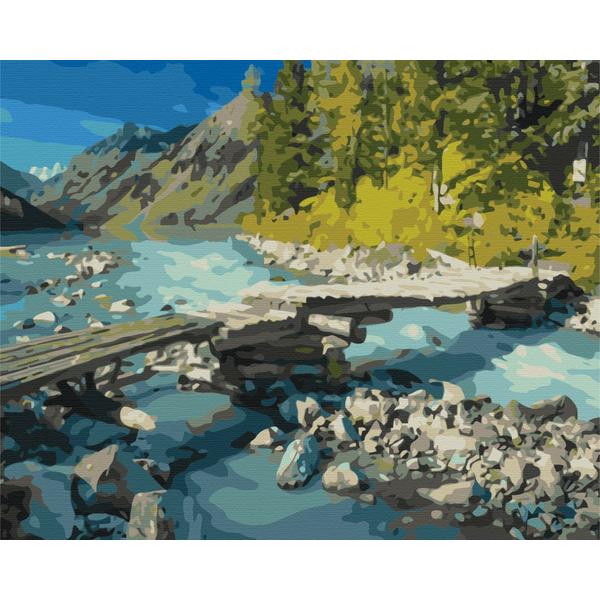 Картина по номерам Природа - Гірський місточок