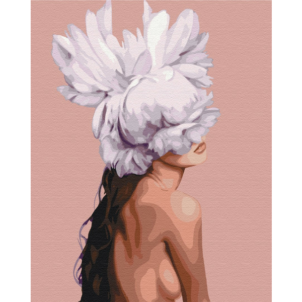 Картина по номерам Люди на картинах - Вона - квітка
