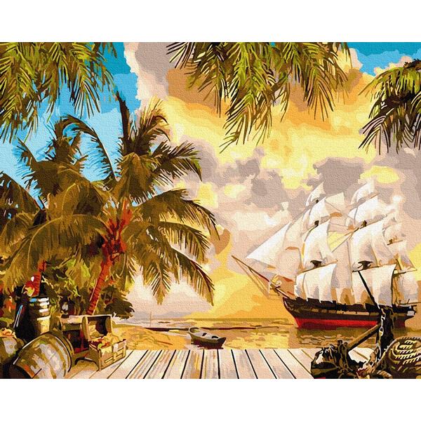 Картина по номерам Пейзажи - Тропический берег