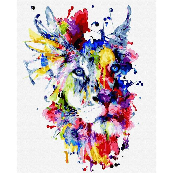 Картина по номерам Поп-арт - Фантастичний лев
