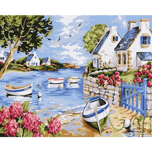 Картина по номерам Пейзажи - Річкові кораблики