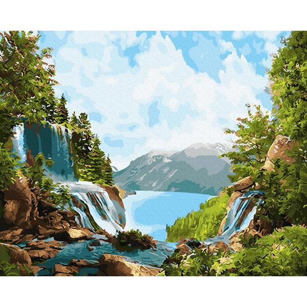 Картина по номерам Природа - Чудесний водоспад