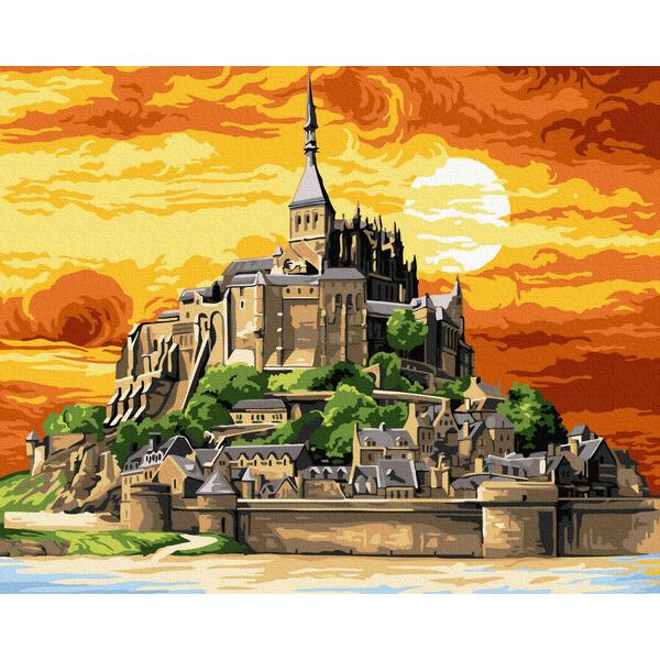 Картина по номерам Пейзажи - Замок на горе