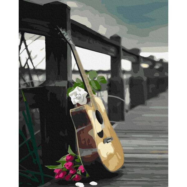 Картина по номерам Для начинающих - Гітара романтика