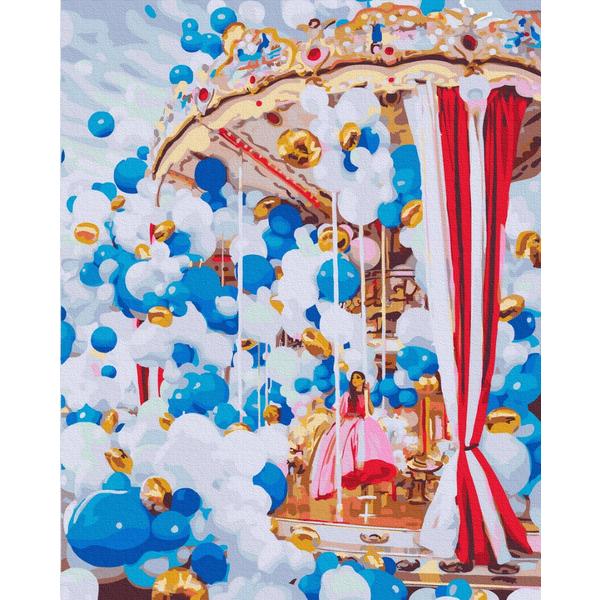 Картина по номерам Авторские коллекции - Карусель в воздушных шариках