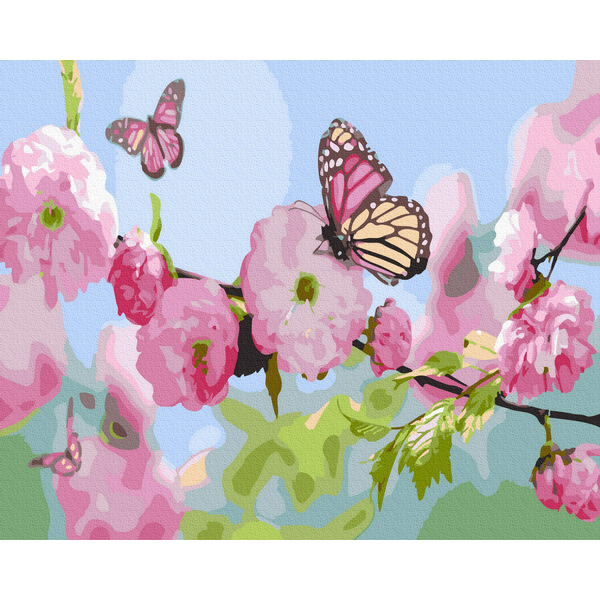 Картина по номерам Цветы - Мателики в квітах сакури