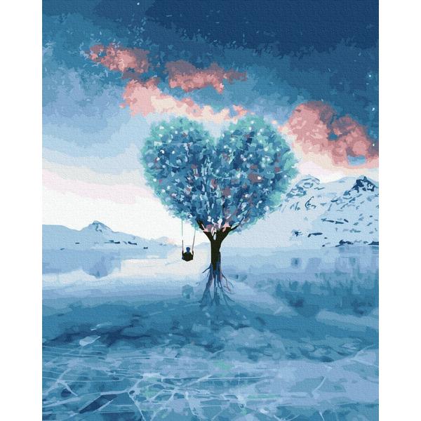 Картина по номерам Романтика - Дерево кохання