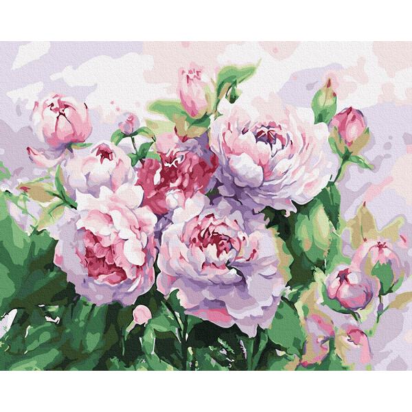 Картина по номерам Цветы - Піони аквареллю