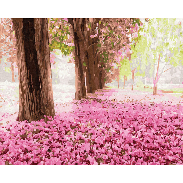 Картина по номерам Природа - Весенний парк