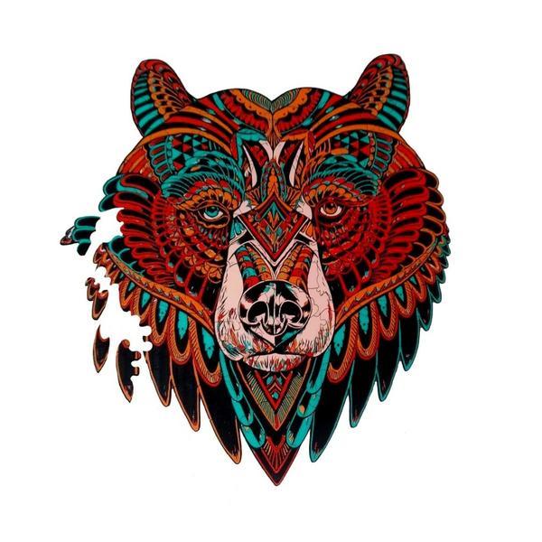 Деревянные пазлы - Ведмідь