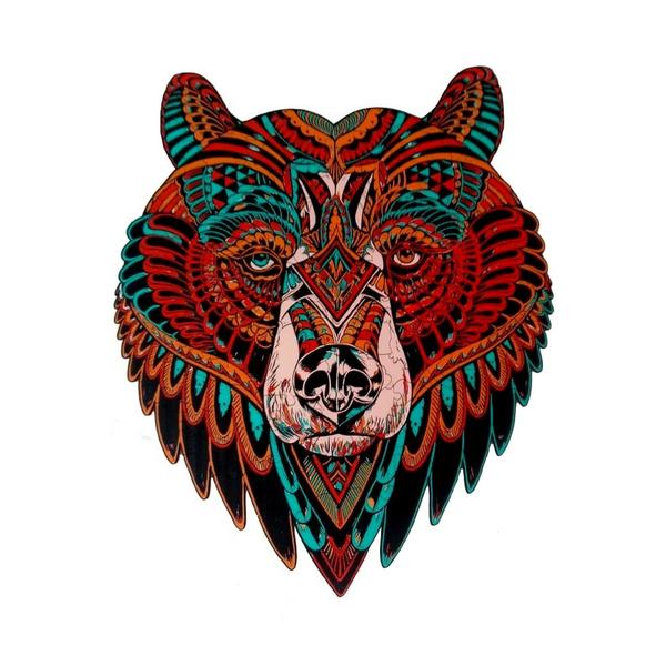 Деревянные пазлы - Медведь