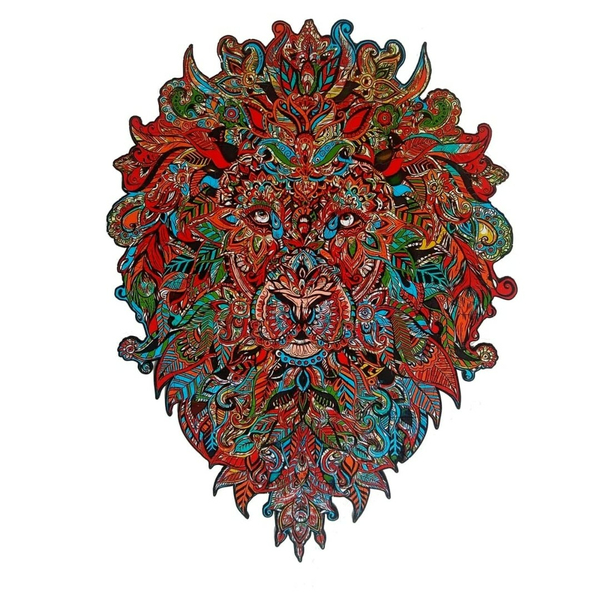 Деревянные пазлы - Лев