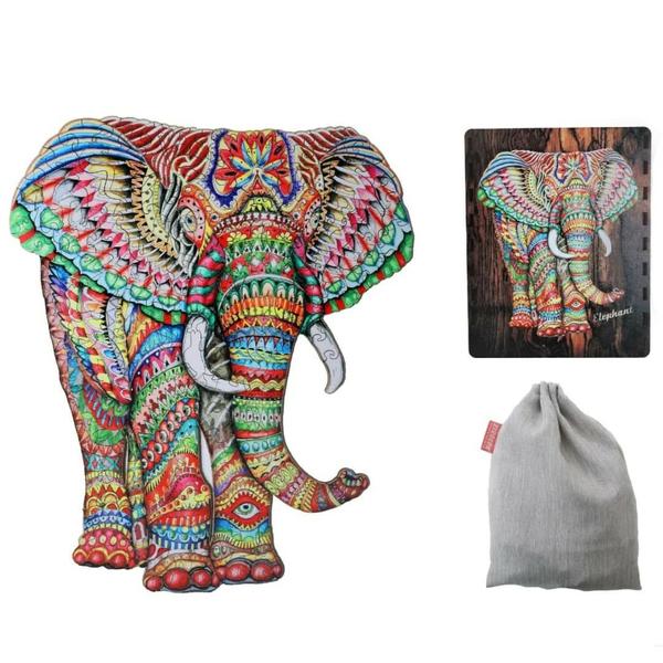 Деревянные пазлы - Слон