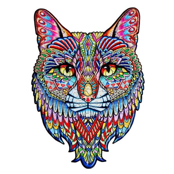Деревянные пазлы - Кот