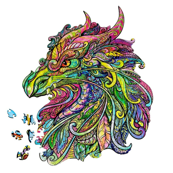 Деревянные пазлы - Дракон