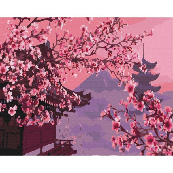 Картина по номерам Пейзажи - Сакура в Японии