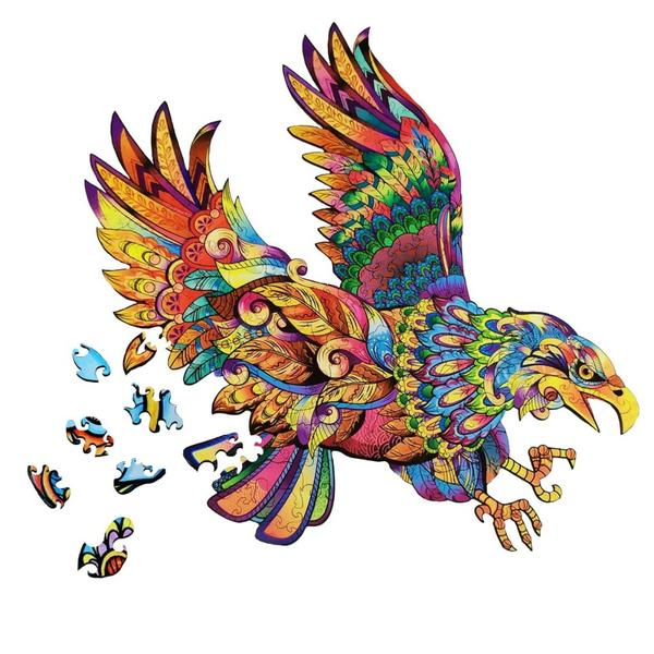 Деревянные пазлы - Орёл